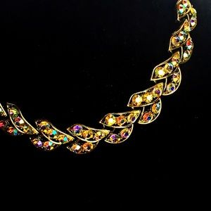 Jewelry - Vintage crystal 50s choker style necklace